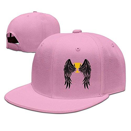 MaNeg Wings Unisex Fashion Cool Adjustable Snapback Baseball Cap Hat One Size Pink (Tennis Player Costumes)
