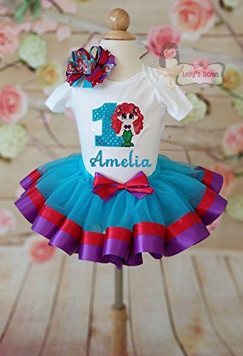 Amazon Ariel Birthday Outfit Little Mermaid Tutu Set