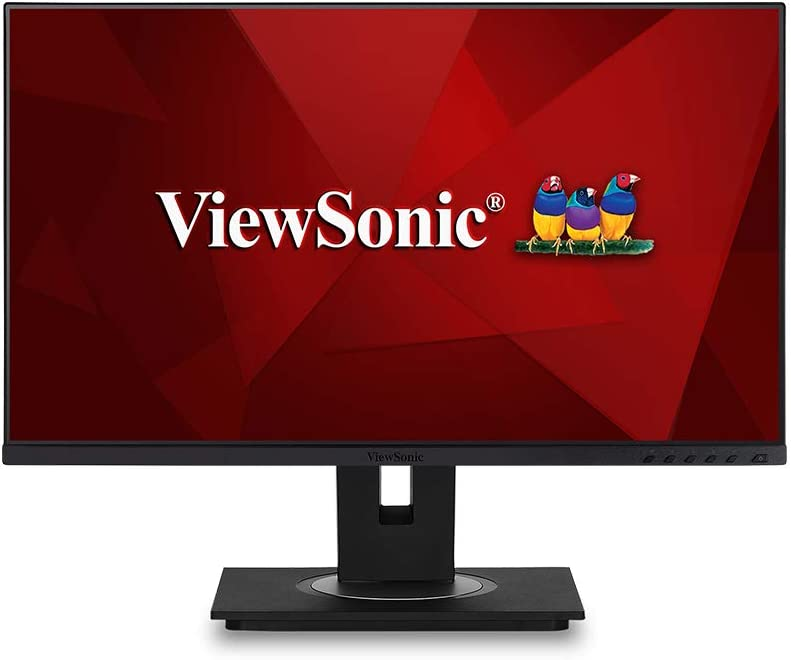 ViewSonic VG2455 24 Inch IPS 1080p Monitor with USB 3.1 Type C HDMI DisplayPort VGA and 40 Degree Tilt Ergonomics for Home and Office