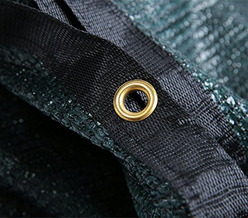 e.share 70/% Green Shade Cloth Taped Edge with Grommets 20 ft X 10 ft