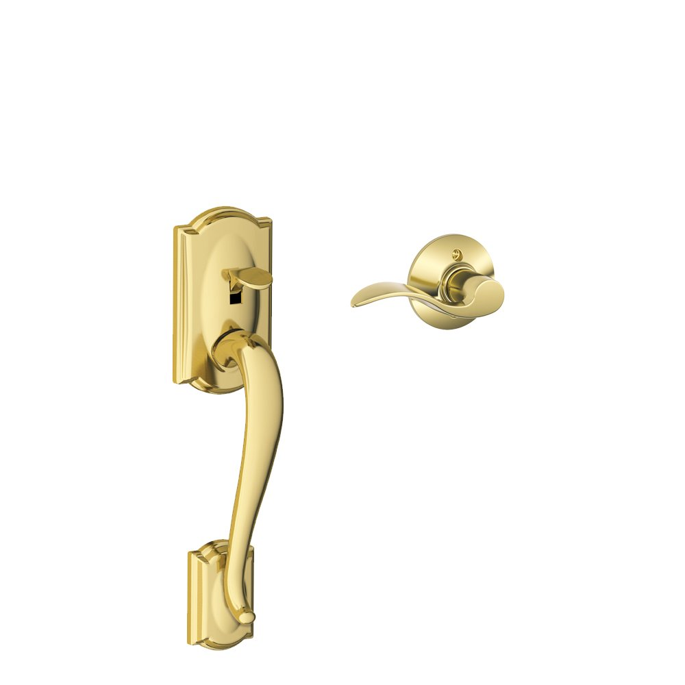 Aged Bronze FE285 CAM 716 ACC RH Schlage LOCK FE285 CAM 716 ACC RH Camelot Front Entry Handle Accent Right-Handed Interior Lever
