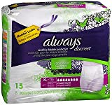 Always Discreet Underwear Maximum Absorbency Size Extra Large - 3pks of 15, Pack of 4