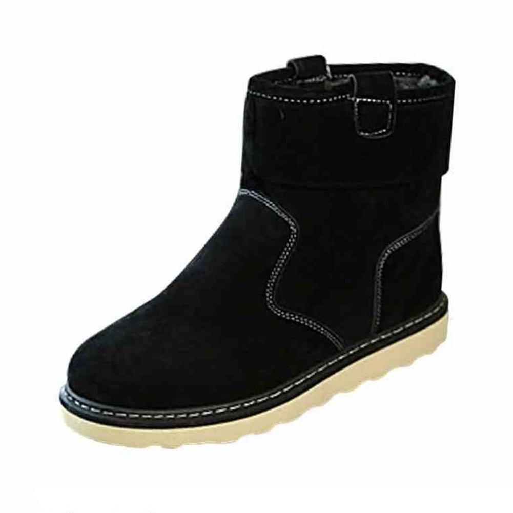 Unbekannt YIXINY Schuhe Turnschuhe Schneeschuhe Herren Stiefel Baumwolle Schuhe Winterschwarz Khak (Farbe   SCHWARZ, größe   EU43 UK9 CN44)