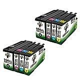 GREENSKY 8 Pack(2B 2C 2M 2Y)HP 950 951 950XL 951XL New High Yield ink cartridge BCYM For HP Printer Pro 8100 8100e 8620 8630 8600 8610 8615 8630