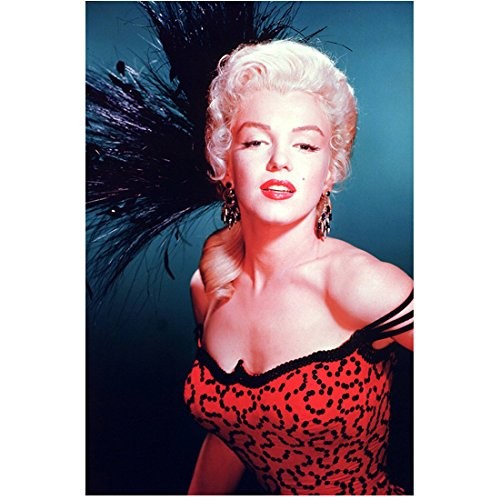 Marilyn Monroe 8x10 Photo Some Like It Hot The Seven Year Itch Gentlemen Prefer Blondes in Red & Black Dress Black...