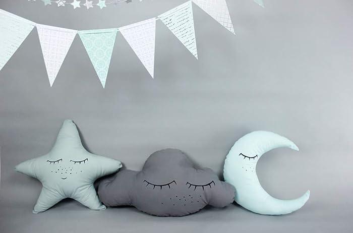 kissenset schlaf schon schlafende wolke stern mond baumwolle babyzimmer deko