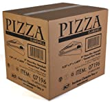 """Southern Champion Tray 07196 Paperboard White Pizza Slice Clamshell Food Container with """"Gourmet Pizza"""" Print, 9-1/4"""" Length x 9"""" Width x 1-11/16"""" Height"""