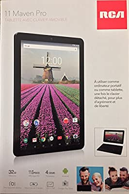 RCA Maven Pro11.6-inch 32GB Tablet with Detachable Keyboard, Black (Quad Core 32GB,1GB RAM, HDMI, Bluetooth, WiFi, Android 6.0 Marshmallow)