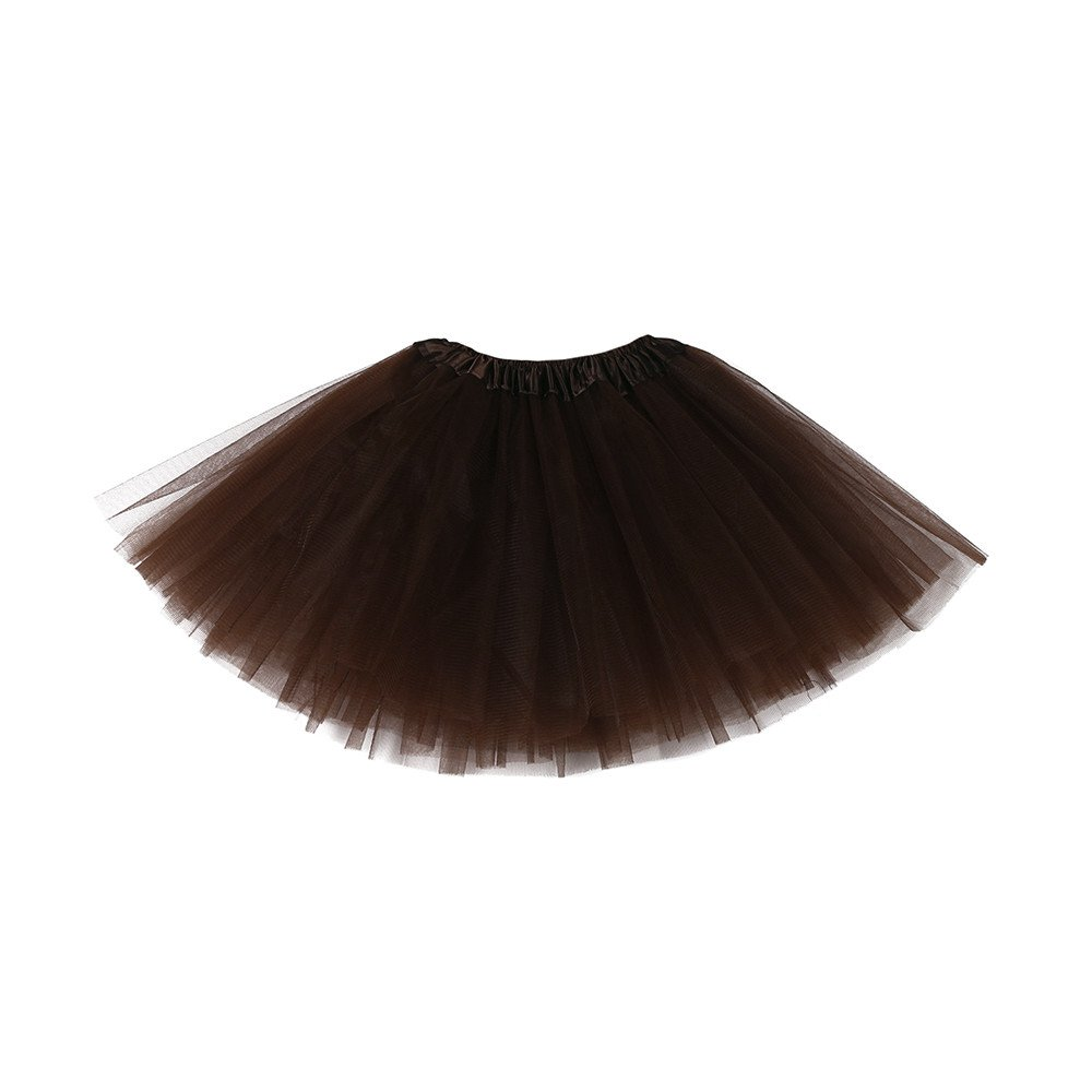 ❤️ Mealeaf ❤️ Cute Baby Girls Kids Solid Tutu Ballet Skirts Fancy Party Skirt(3-10T)