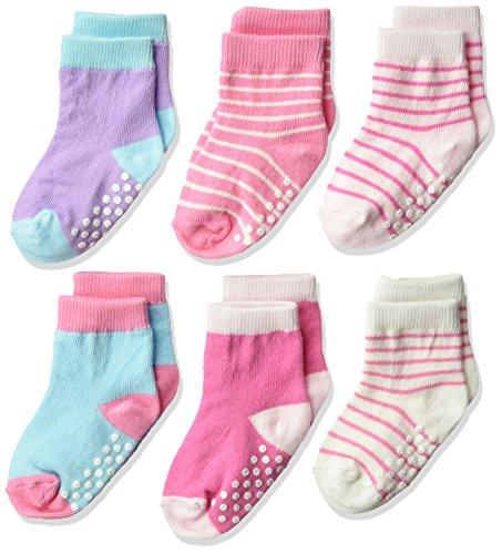 Jefferies Socks Kids Toddler Non-Skid Cotton Crew Socks 6 Pair Pack