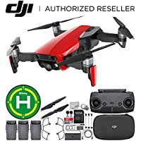 DJI Mavic Air Drone Quadcopter (Flame Red) Landing Pad Ultimate Bundle