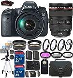 Canon EOS 6D 20.2 MP CMOS Digital SLR Camera with 3.0-Inch LCD and EF 24-105mm f/4L IS USM Lens Kit with 48GB in SDHC Memory & Accessory Bundle (19 Items) - International Version (No Warranty)
