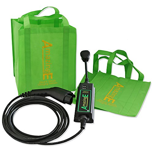 AmazingE Level 2 Portable Electric Vehicle Supply Equipment (EVSE) (NEMA 14-30 Plug, J1772 Connector, 20' Cable Reach) by AmazingE