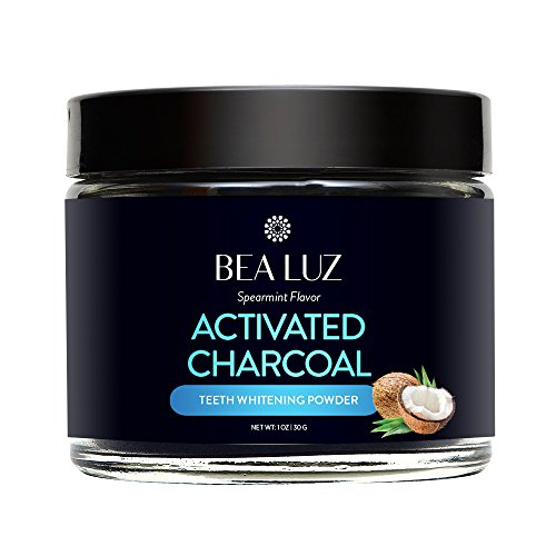 Teeth Whitening Activated Charcoal Powder – From Organic Coconut Shell and Food Grade Formula – All Natural Spearmint Flavor Tooth Whitener (5G) by Gemmaz