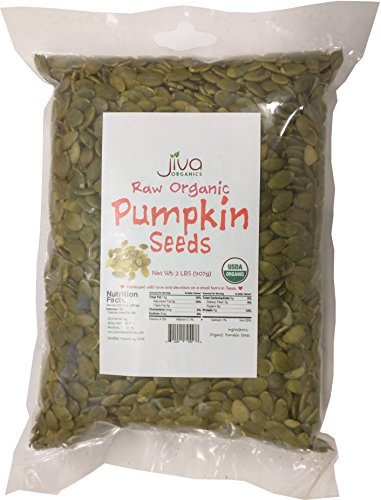 Jiva Organics Organic Pepitas / Pumpkin Seeds (Raw, Sproutable) - 2 Pound Bag