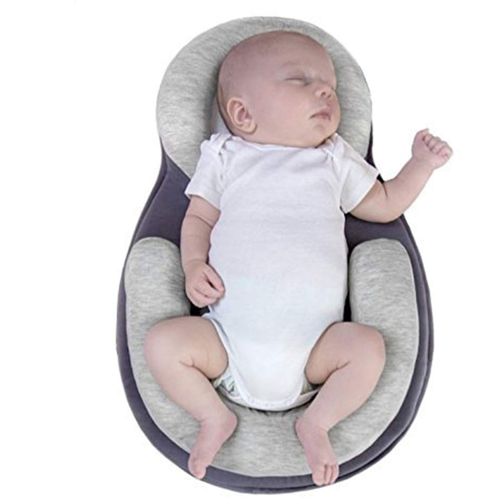 Baby Lounger Stereotypes Cushion Newborn Anti-rollover Mattress Cushion For 0-12 Months Baby Sleep Positioning Pad(Beige) Morehappy7