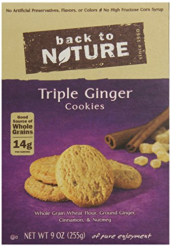 Back to Nature Non-GMO Triple Ginger Cookies, 9 Ounce