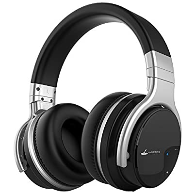 Meidong E7B Active Noise Cancelling Headphones Wireless Bluetooth Headphones with Microphone Over Ear 30H Playtime Deep Bass Hi-Fi Stereo Headset (2018 MODEL)