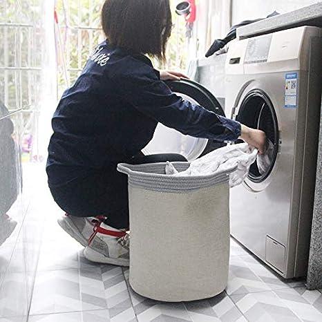 Blanco.S.43 * 33 * 25 Miracle Baby Cesta de Tela Impermeable Plegable,Cestos de lavander/íapara la Colada,Organizador Lavadero Almacenamiento de Canastas para Guardar Organizadoras Juguetes Ropa