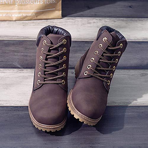 Mujeres Sport Nieve 5 Cálido Invierno Mujer Las Marrón Invierno Tobillo Zapatos Bbestseller Terciopelo Botas De Planas wqUSI1