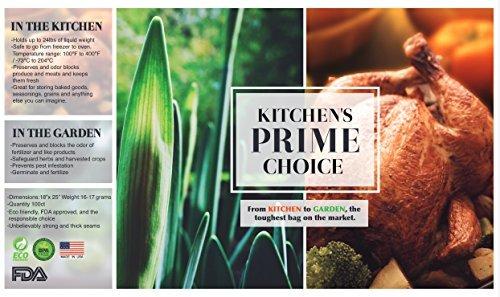 Kitchen's Prime choice KPturkey100 turkey bag, 18'' x 25'', Clear