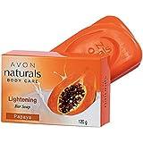 AVON NATURALS BODY CARE LIGHTENING BAR SOAP PAPAYA