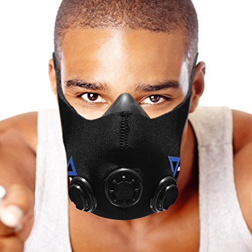 Elevation Resistance Training Mask [6 Altitude/High Altitude Resistance Workout Levels] for Running, Cardio, High Intensity Training, Cycling Endurance and Stamina (Medium)