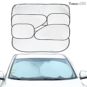 6 Piece Car Window Sunshade Protector Foldable Windshield UV Reflector Protector Keeps Vehicle Cool