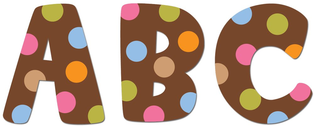 Creative Teaching Press 2-Inch Uppercase Letter Stickers 4192 Dots on Chocolate