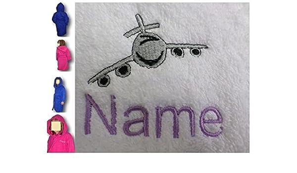 Albornoz con capucha infantil con un chorro de Logo y nombre de tu elección, edad 2 en rosa: Amazon.es: Hogar