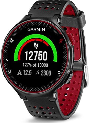 Garmin Forerunner 235 - Reloj con pulsómetro en la muñeca, unisex, color negro y rojo, talla única 278.96€
