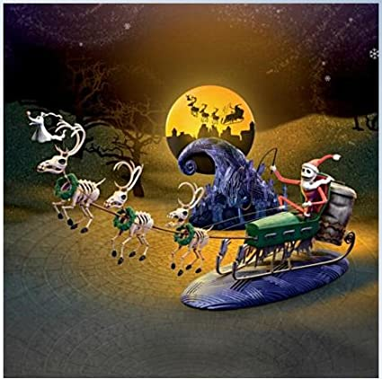 nightmare before christmas 20th anniversary village sleigh set limited edition 1993