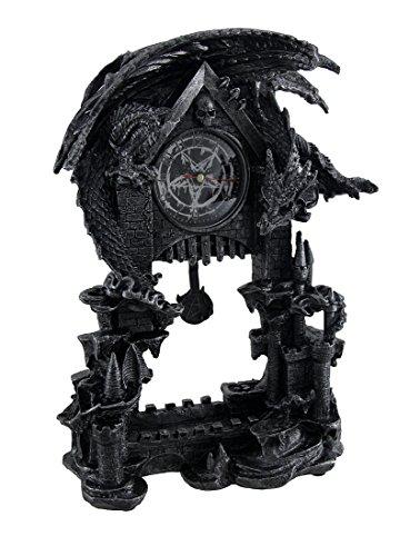 Pentagram Pendulum - Things2Die4 Evil Dragon Pentagram Pendulum Mantel Clock