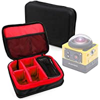 Protective EVA Action Camera Case (in Red) for the Kodak PixPro SP360 - by DURAGADGET