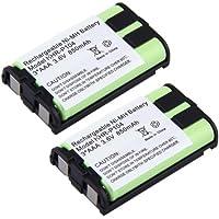 2 Pack 850mAh Cordless Phone Battery for Panasonic HHR-P104 GE Compatible for PANASONIC KX-TG2314S KX-TG5050 KX-TG5431 KX-TG5576 KX-TGA233 KX-TGA550M KX-TG2314W KX-TG5050W KX-TG5431S KX-TG5576M KX-TGA234 KX-TGA551 KX-TG2322 KX-TG5055 KX-TG5431W KX-TG5577 KX-TGA234 KX-TGA551M
