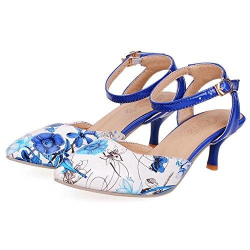 KemeKiss Kitten Blue Sandals Heel Women xAUn0w1q