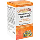 CurcuminRich by Natural Factors, Double Strength Theracurmin, Turmeric Supplement, Tumeric Supplement Joint and Heart Function, 60 Capsules (60 Servings) (FFP)