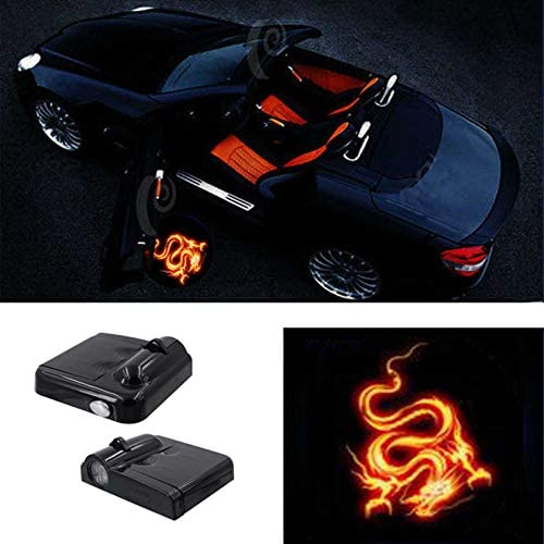 ZHANGDAN Car Door LED Logo Lighting Projector Welcome Lights Car Door Laser Projector Lamp Decoration Modification Styling Accessories for Smart 450 451 453 Fortwo Forfour
