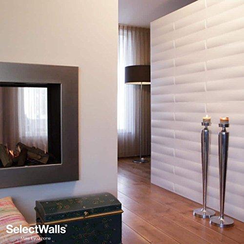Mdf Decorative Panels (3D Wall Wood Panels from MDF Wood (10/Box) 27 sqft- ZITA Wall Paneling Design.)