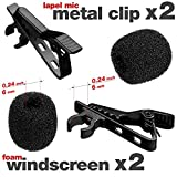 #9: Lavalier Microphone Clip + Foam Windscreen Cover - 2x Lapel Mic Clip + 2x Lapel Mic Cover - Lavalier Microphone Replacement Kit