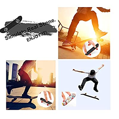 SILICPS Finger Skateboard Park with Stair/&Handrails Mini Skate Park Kit Ramp with Tools for Fingerboards Ultimate Parks Training Props Interactive Tabletop Freestyle Skate Game