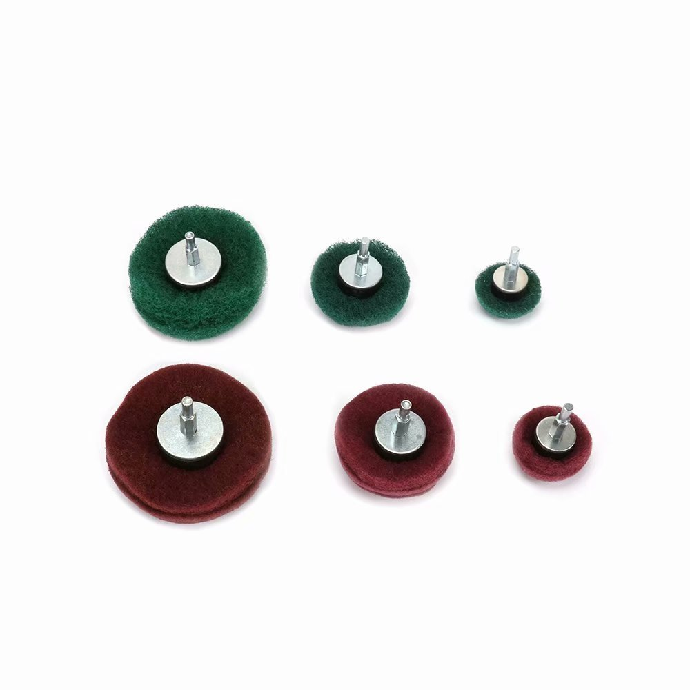 6Pcs Nylon Fiber Buffing Polishing Mushroom Wheel For Drill,Sanding Dome Polisher Pad Sets for Metal Aluminum,Stainless Steel,Jewelry,Wood,Plastic,Ceramic,Glass,etc