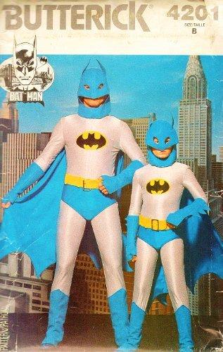 [Butterick 4201 Batman Costume Pattern Child Size 8-10 Vintage 1980s] (Children's 1980s Costumes)