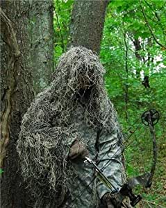 GhillieSuits Synthetic Ultra-Light Ghillie Bow Hunting Jacket Left Hand Mossy 3XL