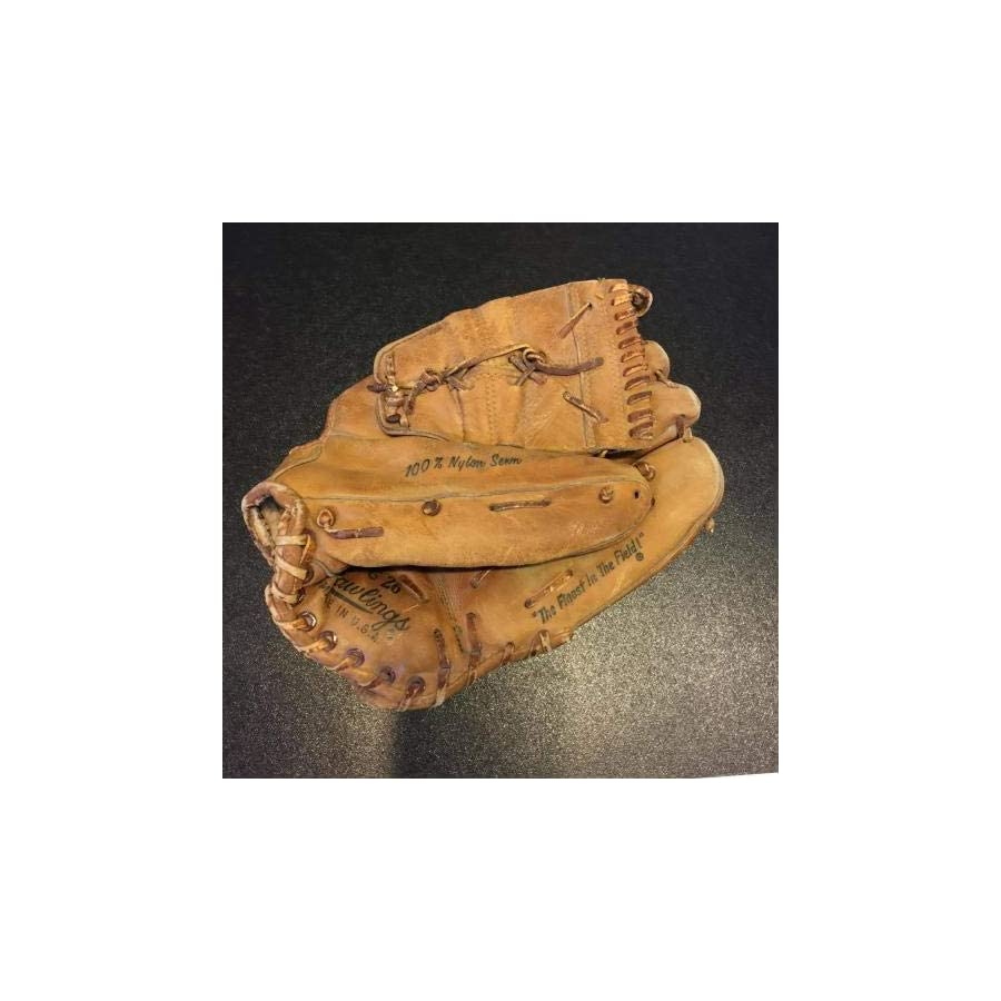 1960's Mickey Mantle Signed Rawlings Game Model Baseball Glove With COA JSA Certified Autographed MLB Gloves