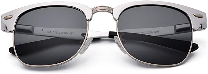 Polarized Sunglasses TTOBS Unisex Clubmaster Classic Sunglasses