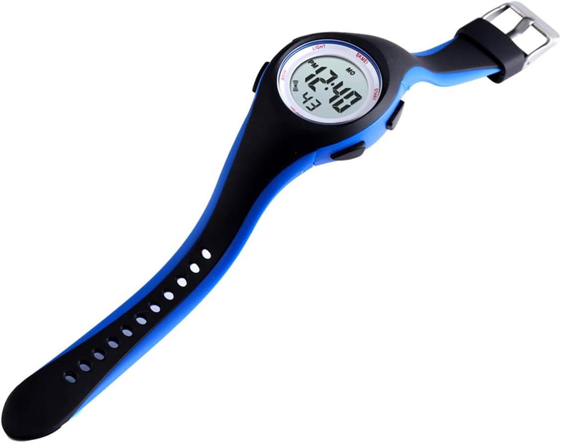 Gojiny Enfants Montre numérique étanche Sports électronique LED Montre Montre Alarme Montre-Bracelet pour Enfants garçons et Filles Bleu Noir