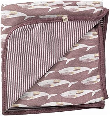 Mocha ballena Reversible manta para bebé – algodón orgánico – Pigeon organics: Amazon.es: Bebé