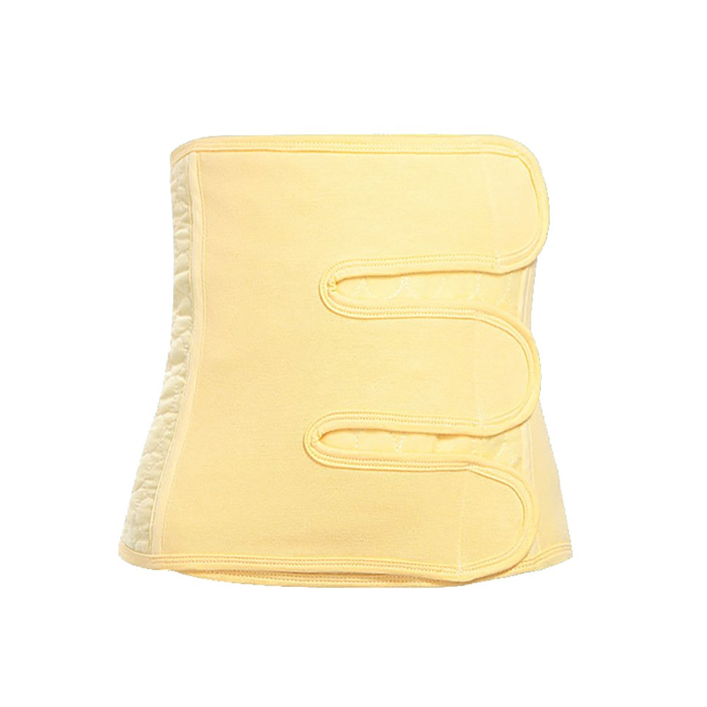 Hilai Postpartum Recovery Belly Band C-section Waist Belt Body Shaper Wrap Postnatal Support Shapewear¬Cotton—(Yellow-XL) H0DXGFD5362MY10D3EY7PS8QE