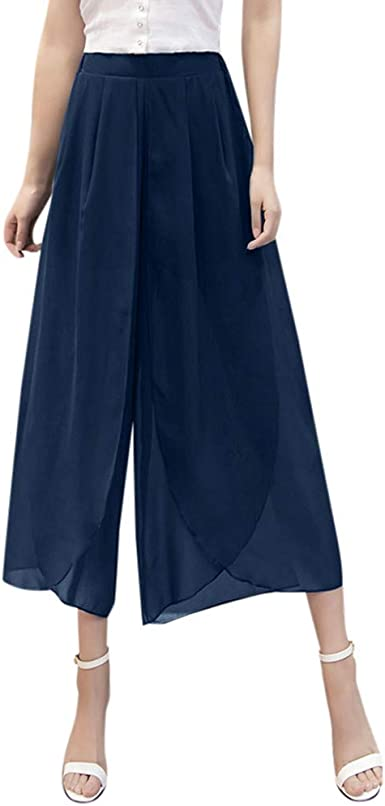 Wyxhkj Mujeres Pantalones De Pierna Ancha Talla Grande Pantalones ...